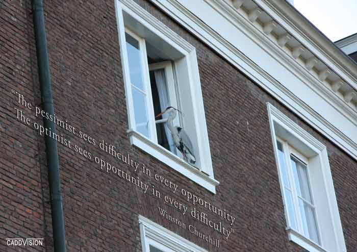 Quote van Winstan Churchill - Pessimist Optimist